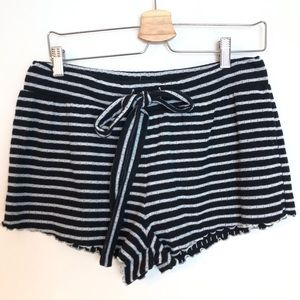 MADEWELL STRIPED LOUNGE SHORTS M
